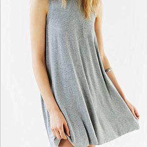 Silence + Noise mini mock gray swing dress